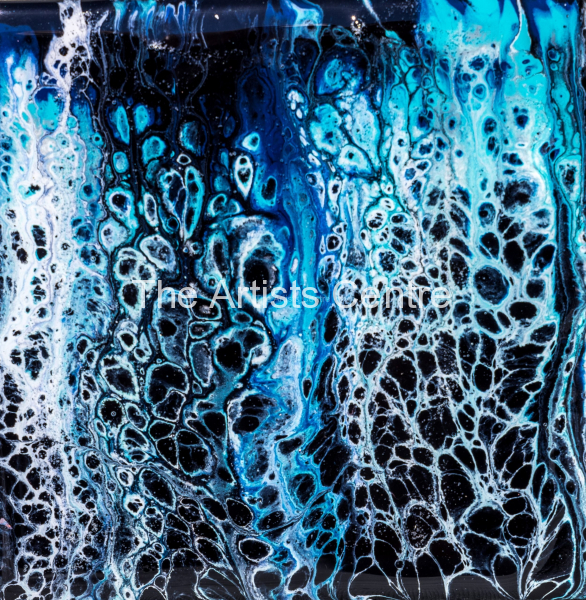 Poured abstract art by Lorna Markillie