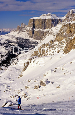 Italy Dolomites in winter