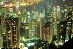Night view of Hong Kong from the Peak
