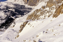 Italy Dolomites in winter