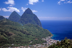 St Lucia the Pitons Caribbean