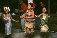 Local tongan dancing girls Tonga Pacific Ocean